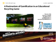 A Post-mortem of Gamification in an Educational Recycling Game