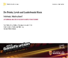 Do Points, Levels and Leaderboards Harm Intrinsic Motivation?