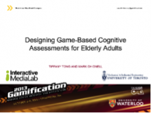 Designing Game-Based Cognitive Assessments for Elderly Adults