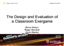The Design and Evaluation of a Classroom Exergame
