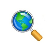 Earth in magnifying glass