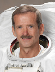 Chris Hadfield in astronaunt suit
