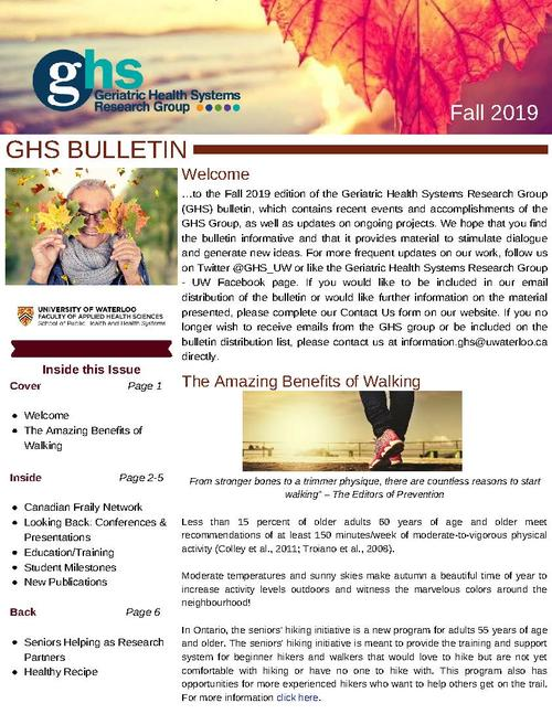 First page of the GHS Bulletin