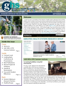 Front page of the summer edition of the GHS research bulletin