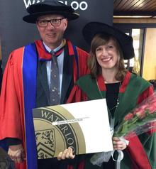 Dr. Daniela Roth, first Cotutelle graduate, with her co-supervisor Dr. Boehringer.