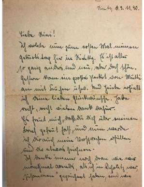 One of the Sommer letters, first part