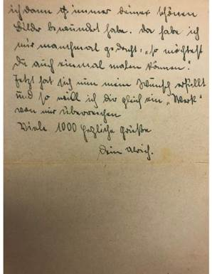 One of the Sommer letters, second part