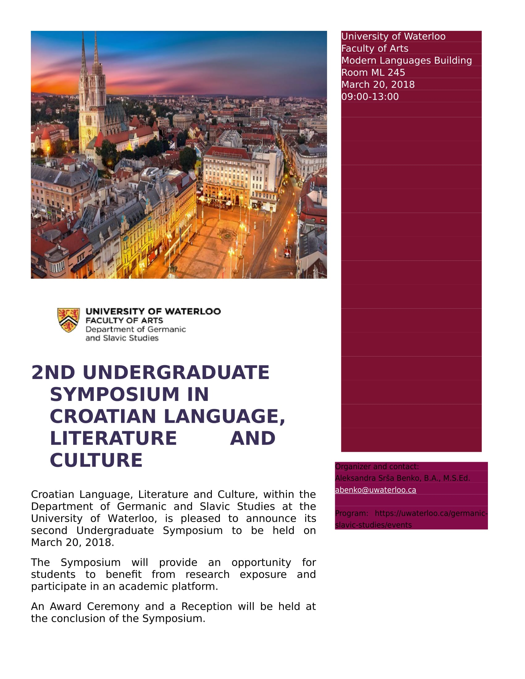 Poster for Croatian Symposium