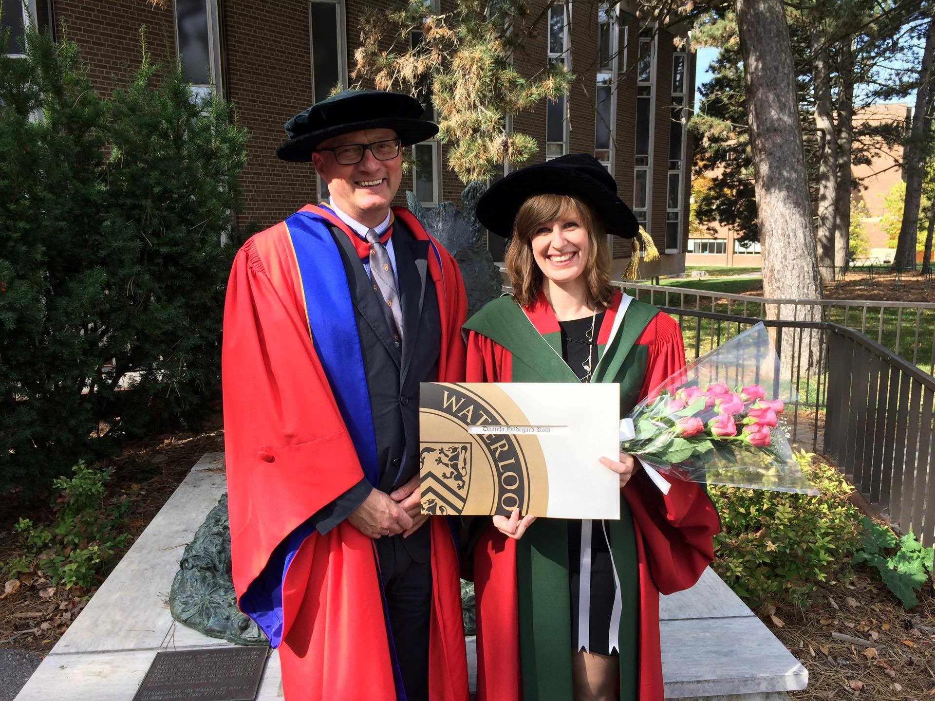 GSS Prof. Michael Boehringer and Dr. Daniela Roth at convocation