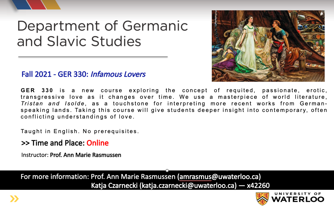 Course poster GER 330 Infamous Lovers