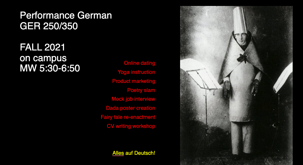 Performance German course poster