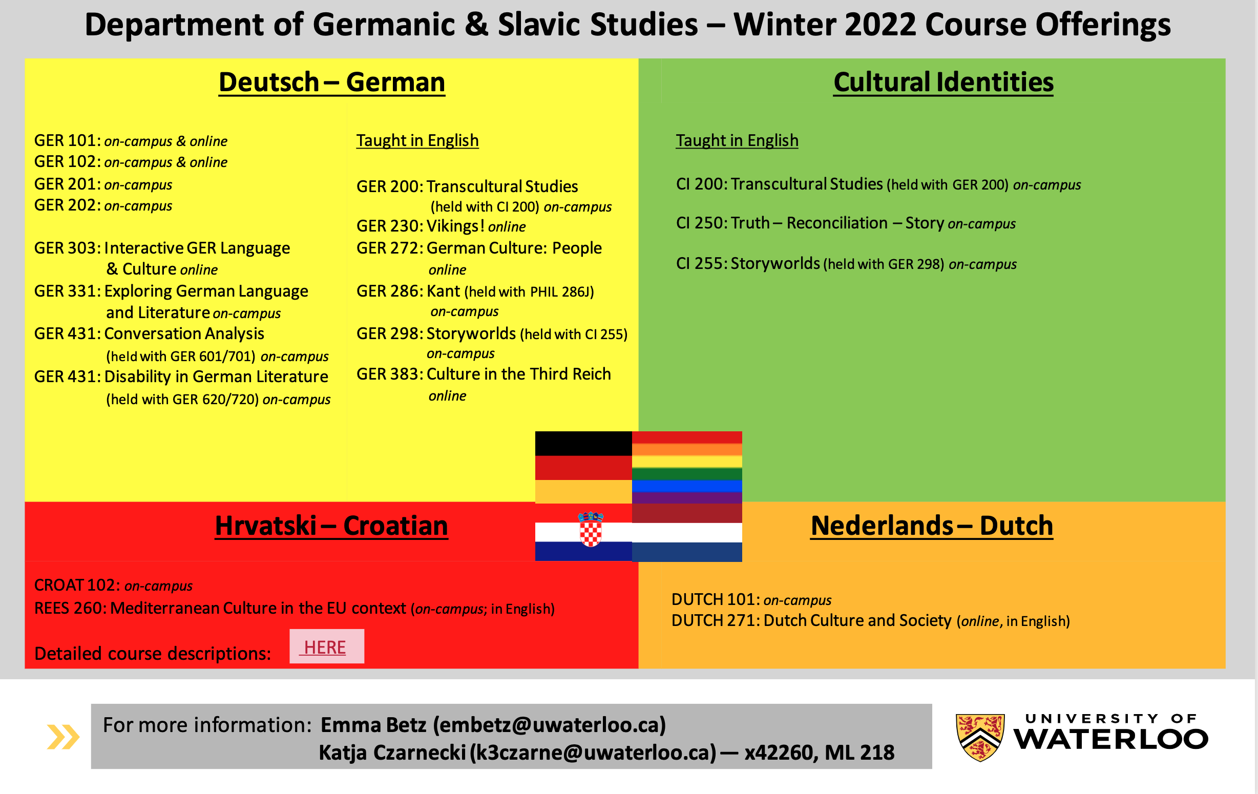 Courses offered in Winter 2022