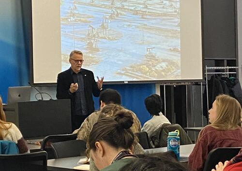 Edward Burtynsky lecture for GESP students