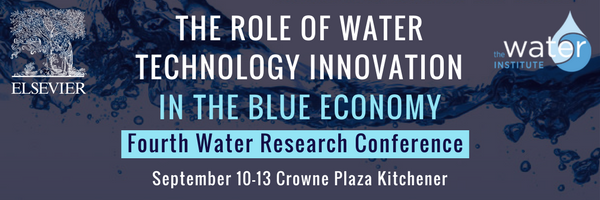 The Role of Water Technology Innovation in the Blue Economy.  Elsevier's fourth water research conference