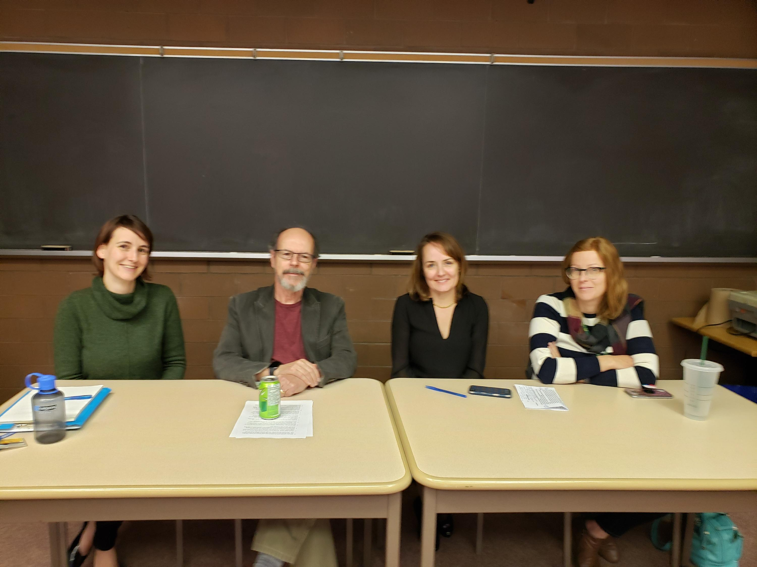 Image of Drs. Seeds, McLeod, Henderson, and Mewhort-Buist