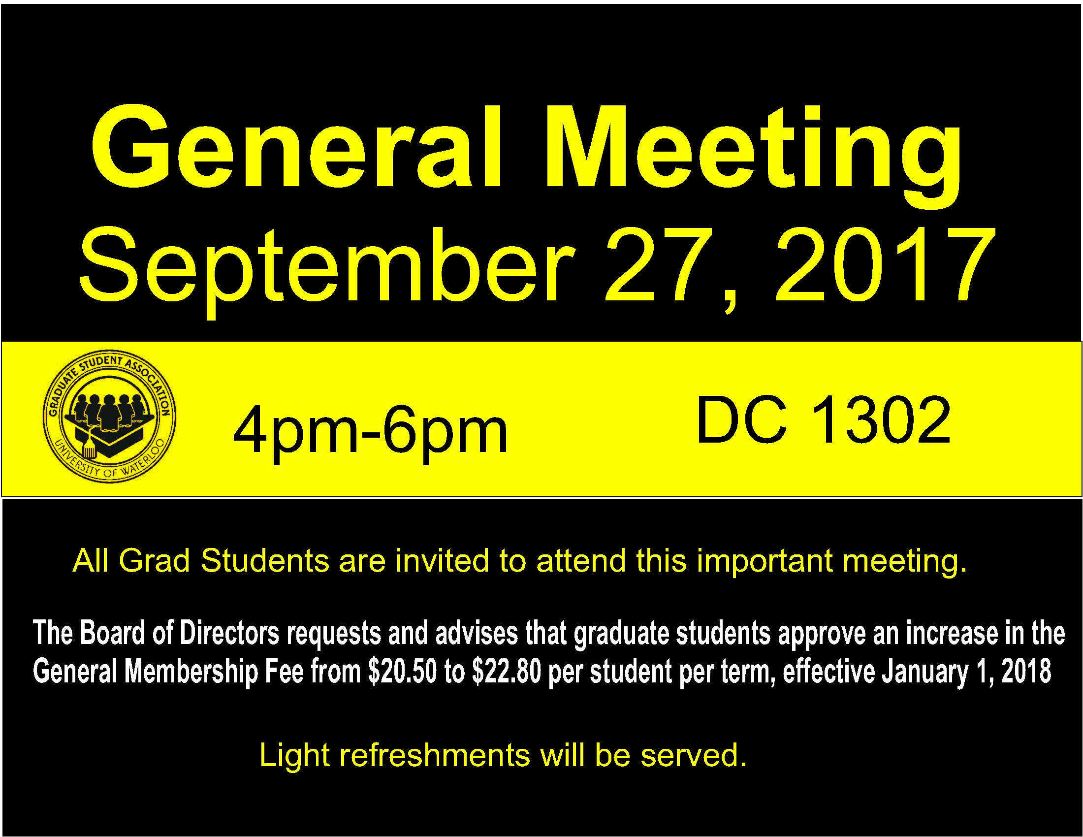 Poster for General Meeting