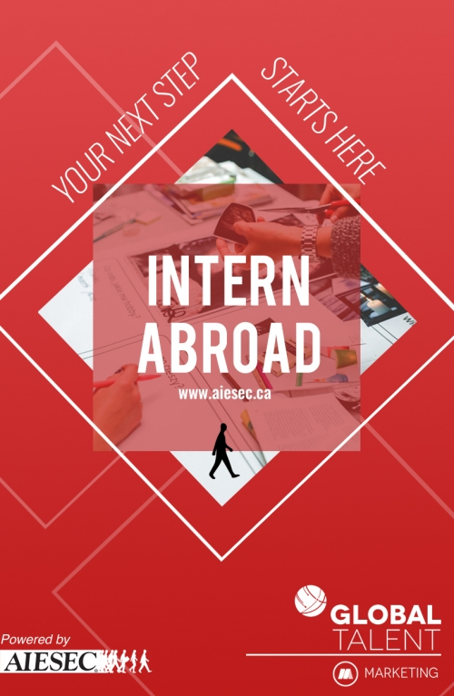 Your next step starts here. Intern abroad. www.aiesec.ca