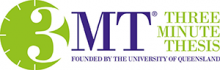 3MT - three minute thesis. Founded by the University of Queensland.
