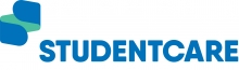 student care logo looks like a folded bandage.