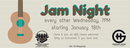 Jam Night every other Wednesday. Come and join, all skill levels welcome! Bring an instrument if you have one!