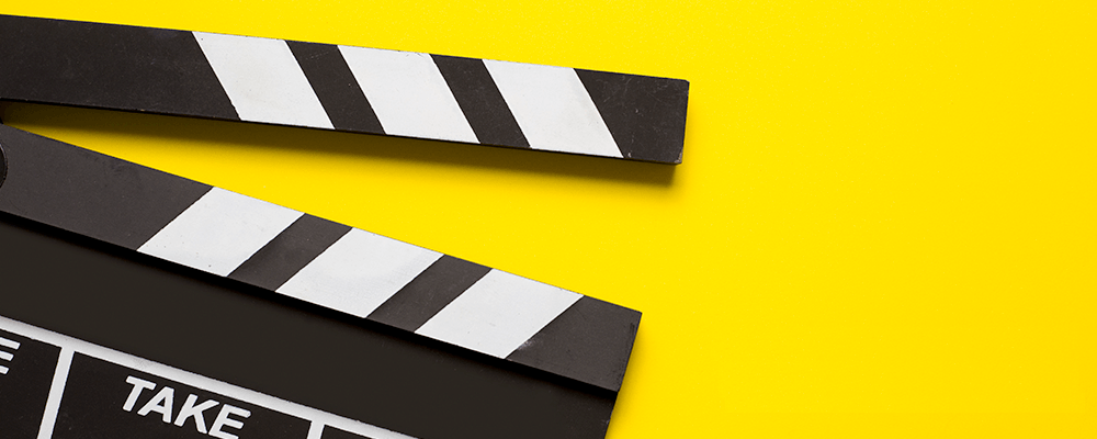 Movie clap board - yellow and black