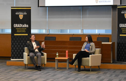Jason Lajoie and Caitlin Scott answer questions at GRADtalks