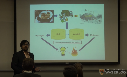 Swakshar Saha presents his research at teh 2019 3MT competition.