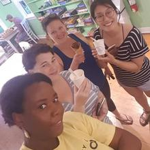 Four Lake Shifters at a local ice cream shop
