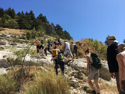 Participants of the 12th ALTER-Net summer school hiking in France