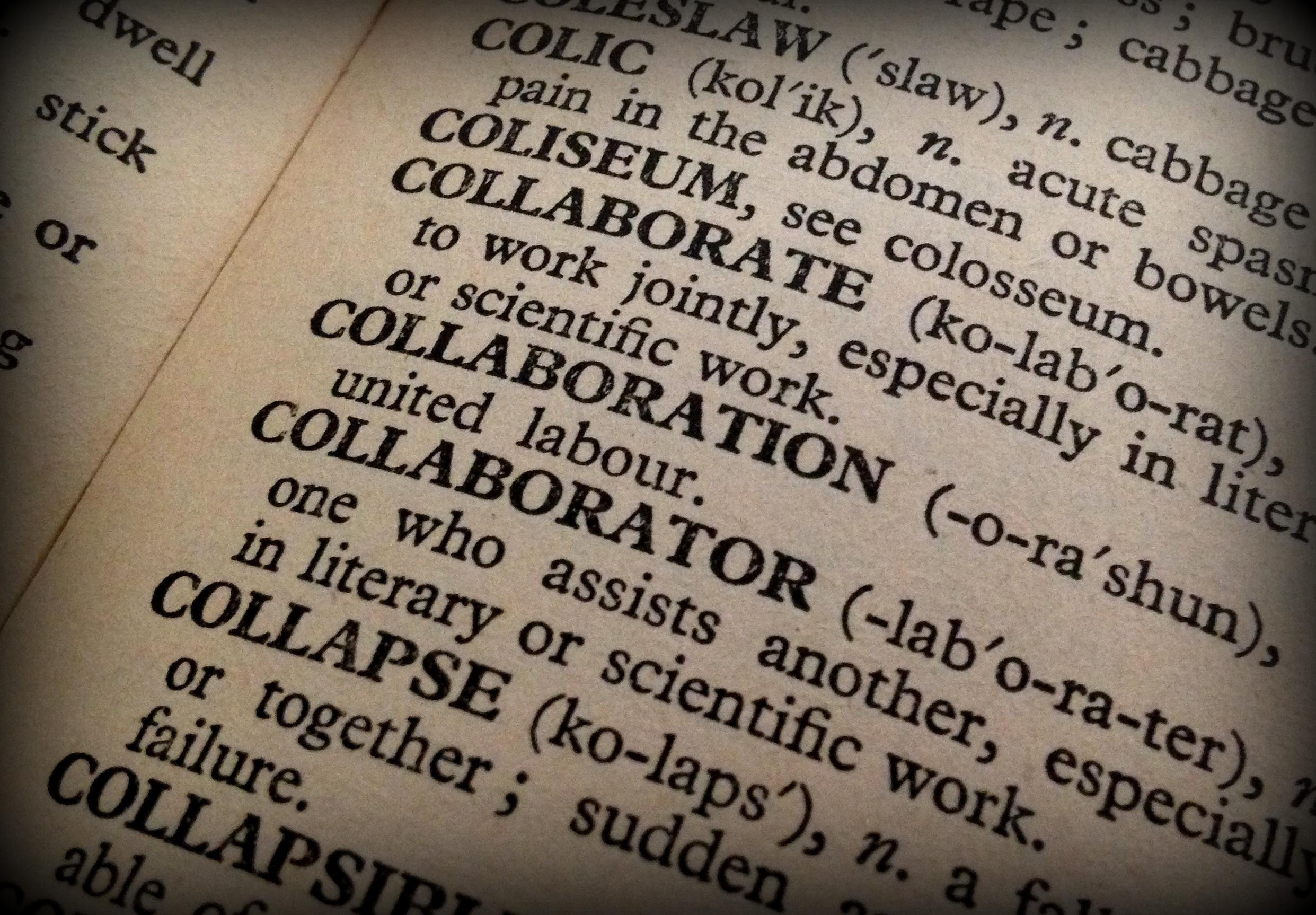 Close up of a page in a dictionary.