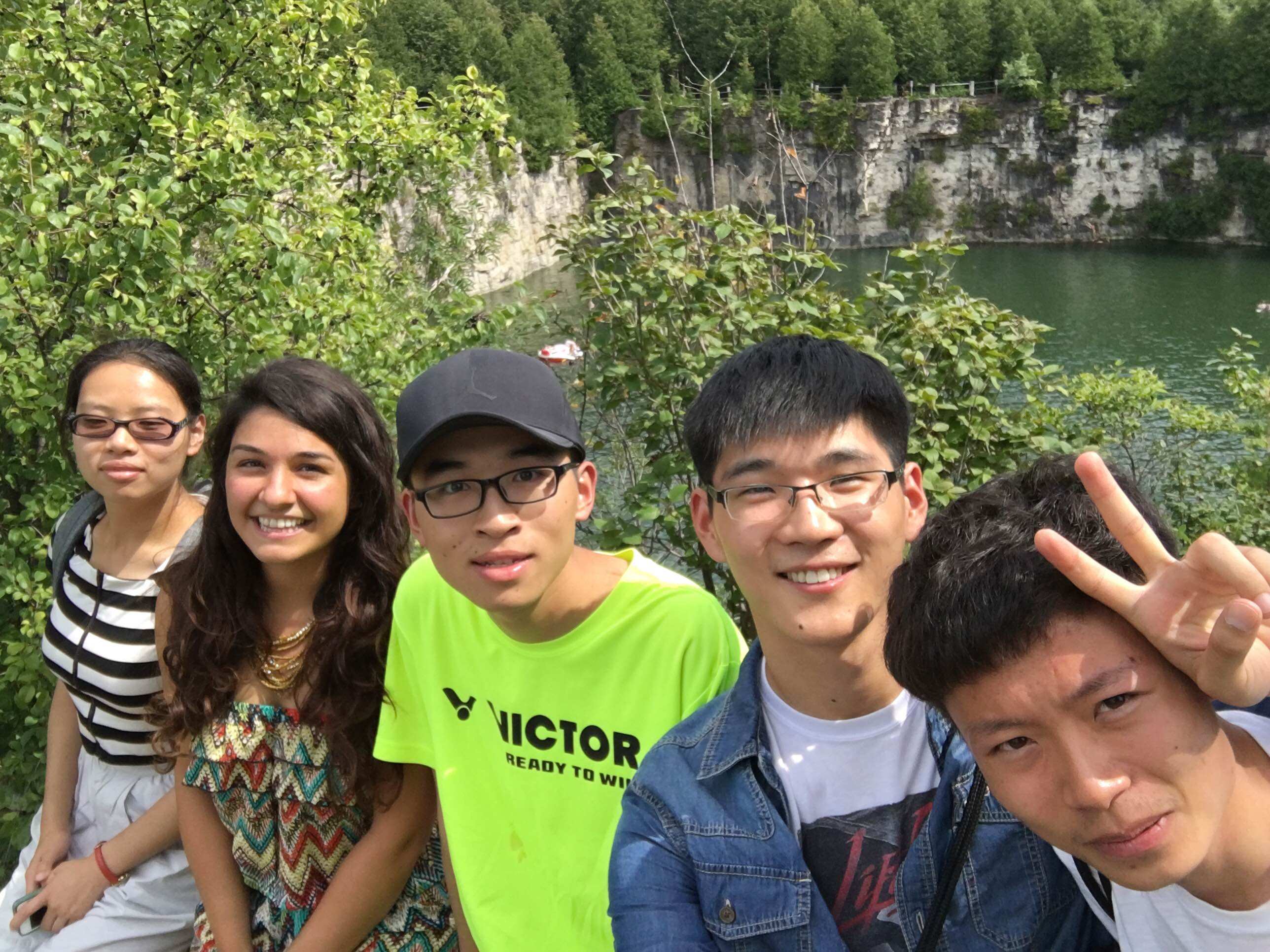 Justine and Interns at Elora Gorge