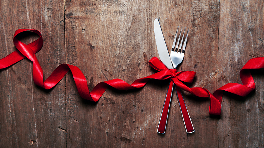 Holiday knife and fork