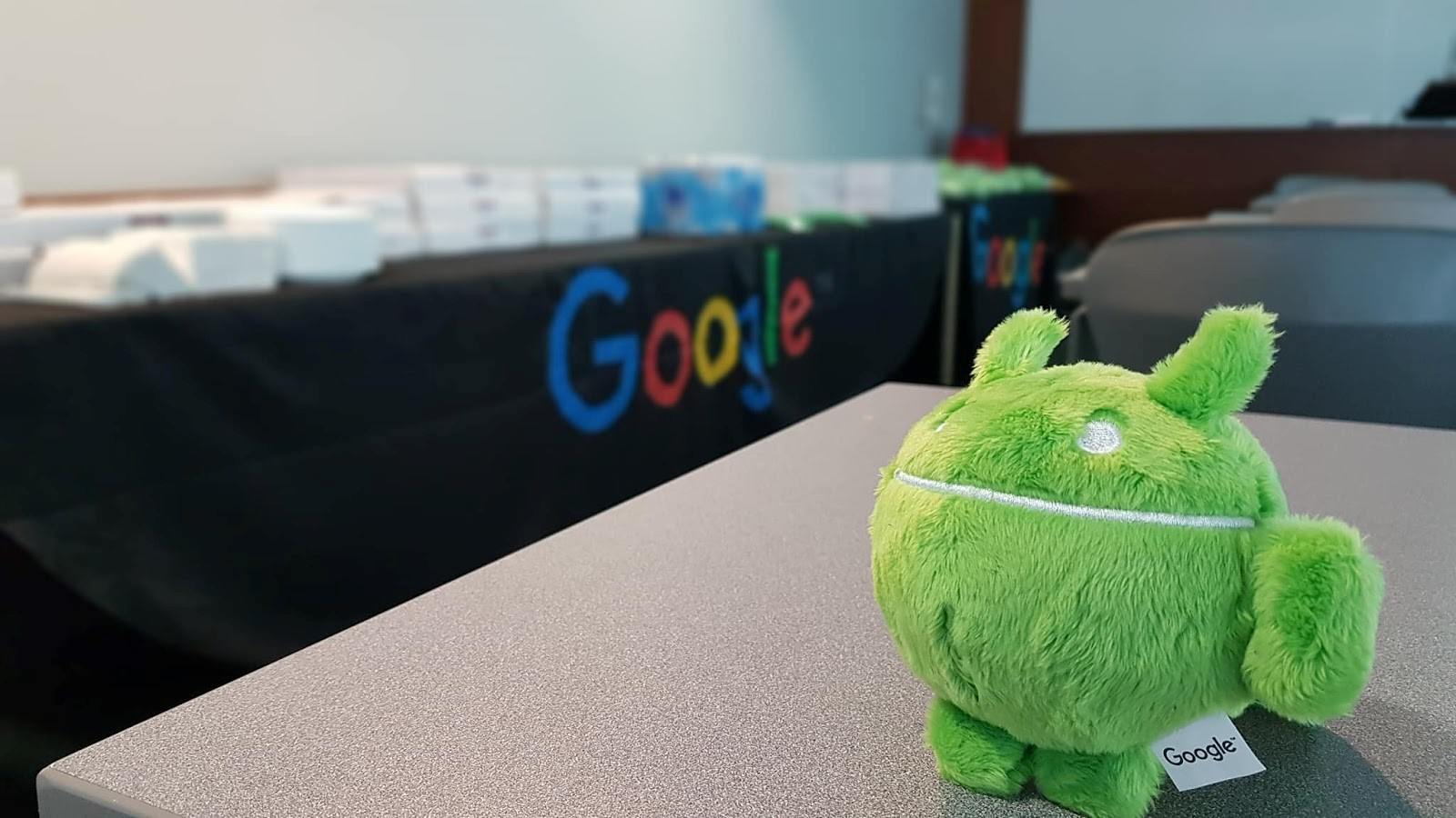 Google stuffed animal.