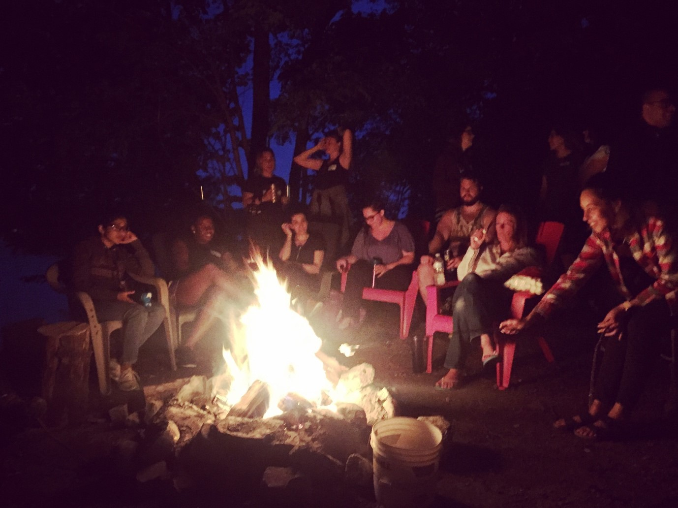 Campfire pic at Lakeshift
