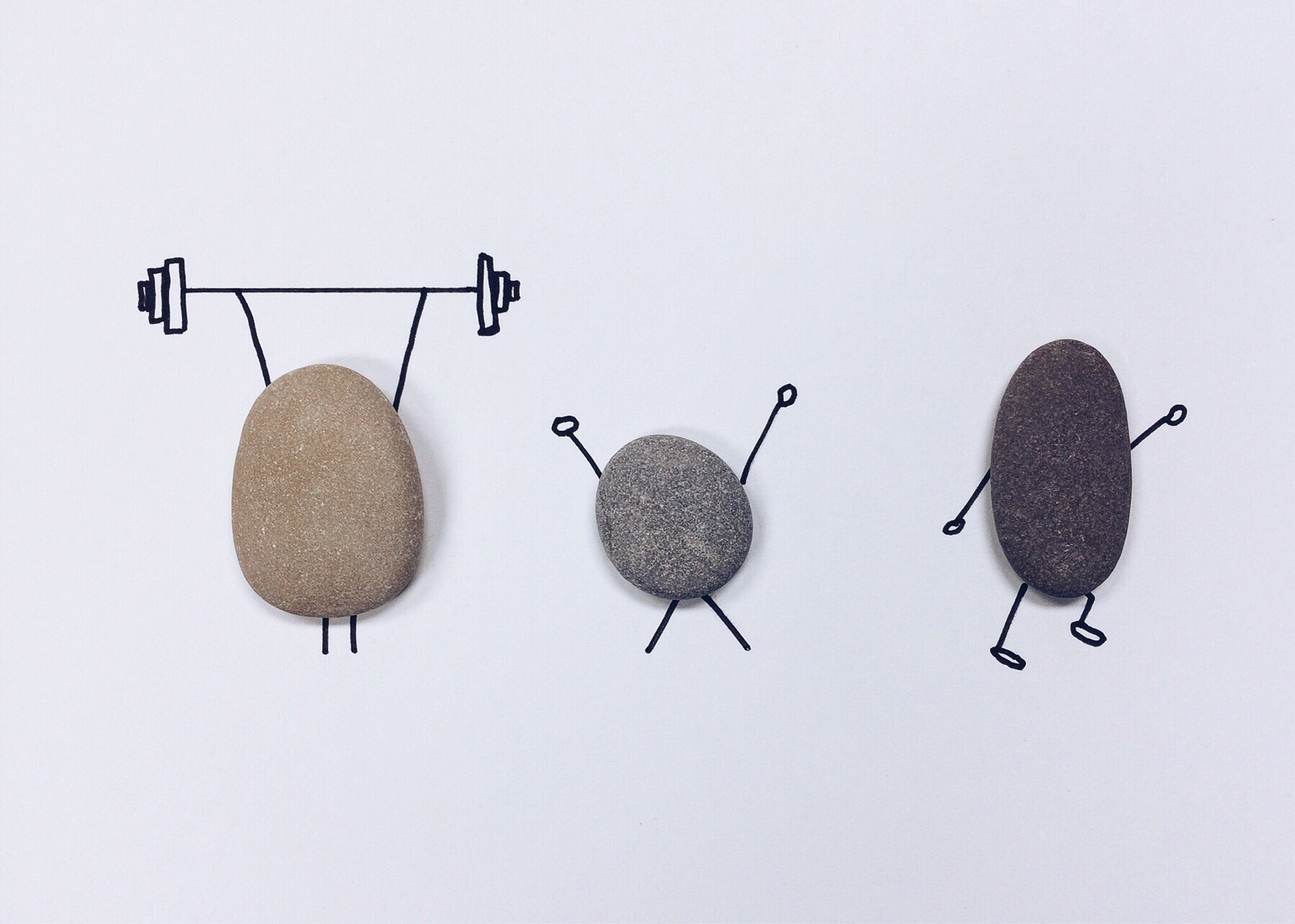 Rock craft showing activity options like walking and lifting weights