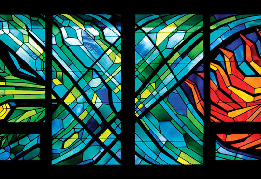 Grebel chapel stained glass windows