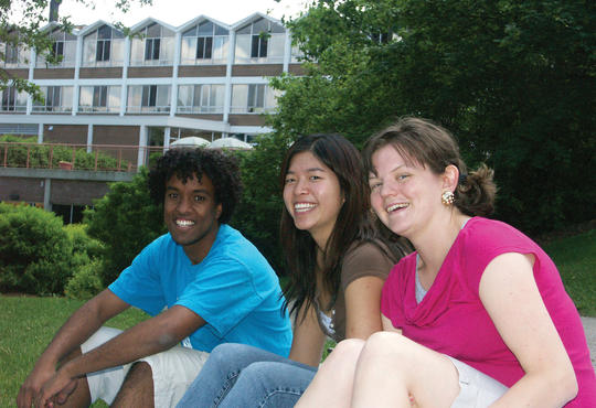 Hebron Hailu Gabre-Marian (on left) posing in front of Grebel as part of a 2006 promotional photoshoot.
