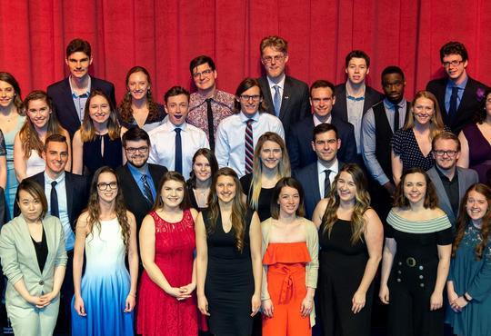 Graduates of the undergraduate class