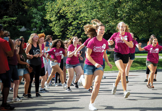 Move-In Day energy from Orientation Week Leaders