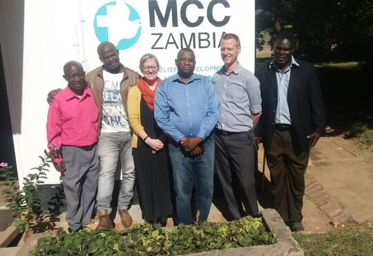 Issa Daniel the mcc country director at mcc office in Zambia