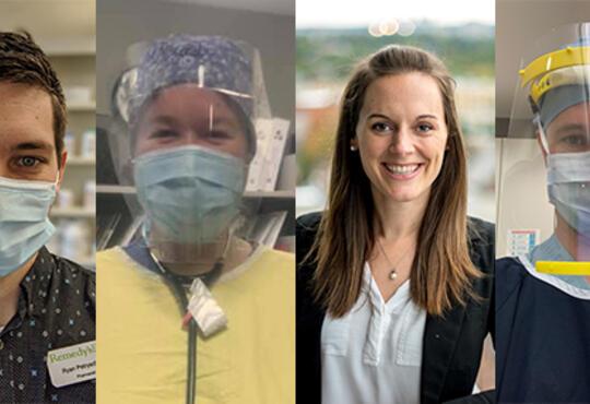 Photos of Grebel alumni frontline health workers