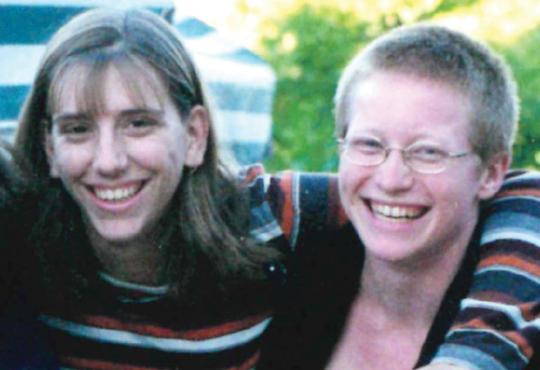 Debra Worth (BA 2001) in 1999 at Grebel with Tamara Shantz (BA 2003)