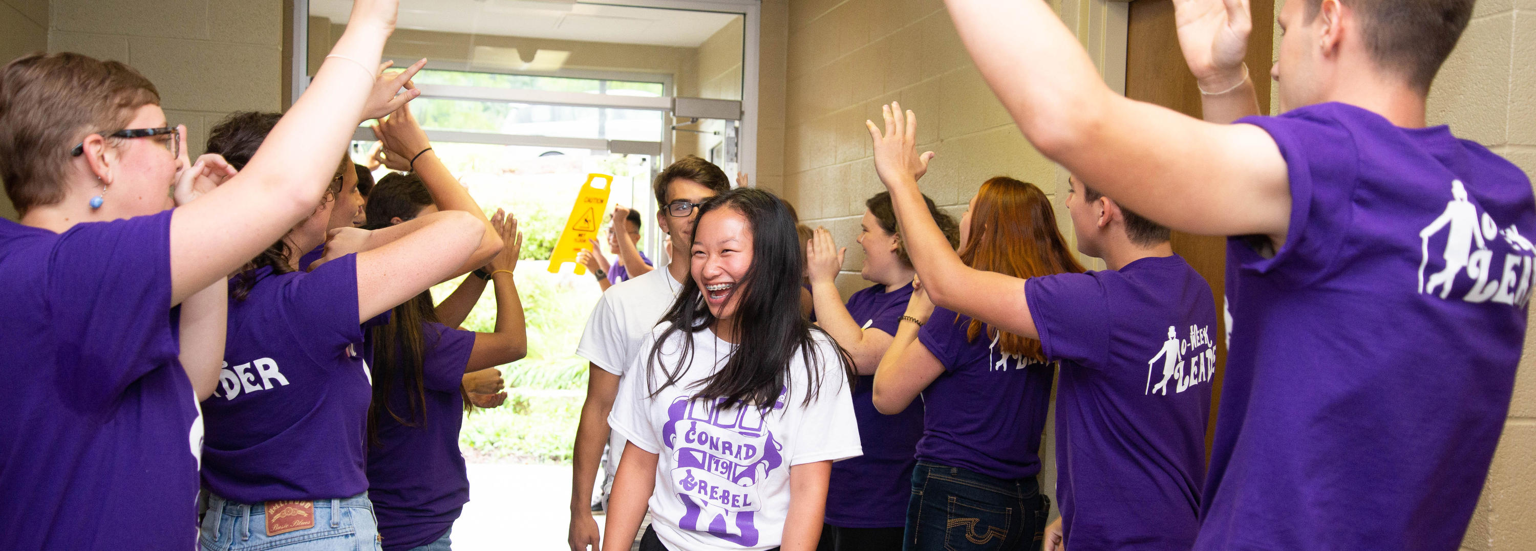 First-year students were enthusiastically welcomed by upper year students