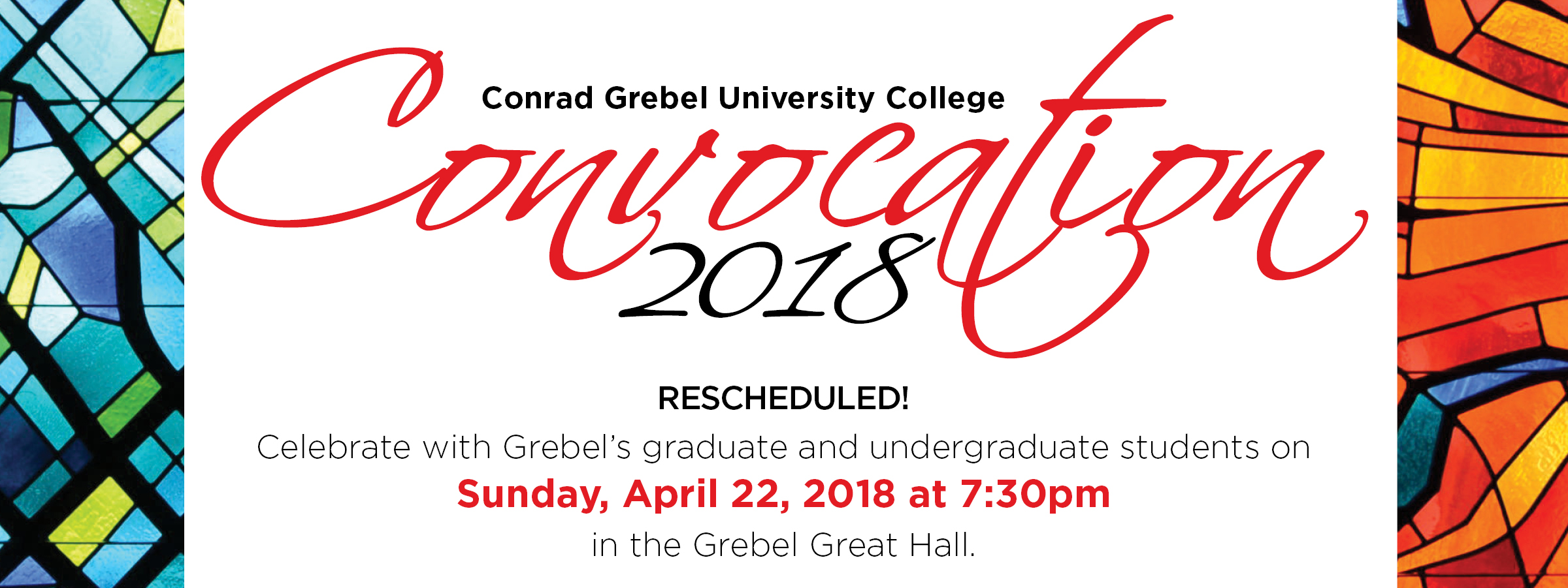 Convocation 2018 rescheduled