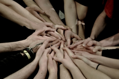Group of hands
