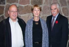 2006 - Ron Schlegel, President of Oakwood Retirement Communities, Marianne Mellinger, Spirituality and Aging program, and Mike Sharrett, Director of Research Institute for Aging