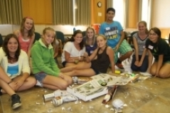 Campers with their World City project.