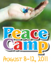 Peace Camp advert. August 8-12, 2011.
