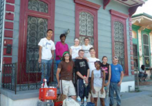 Half the New Orleans team worked on Miss. Vassel's house