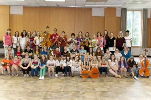 Ontario Mennonite Music Camp 2012 Group photo